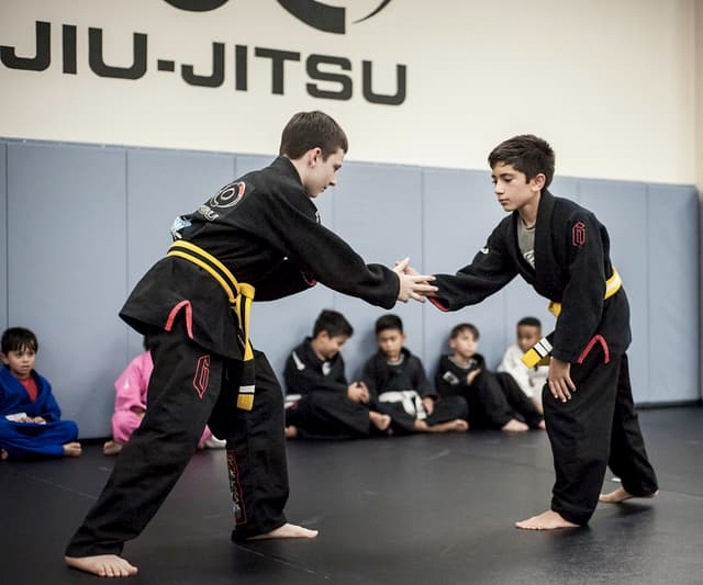 Two boys practicing the best martial art for kids