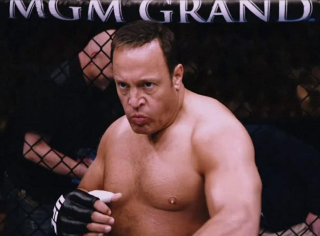 Kevin James playing an MMA fighter in Here Comes The Boom