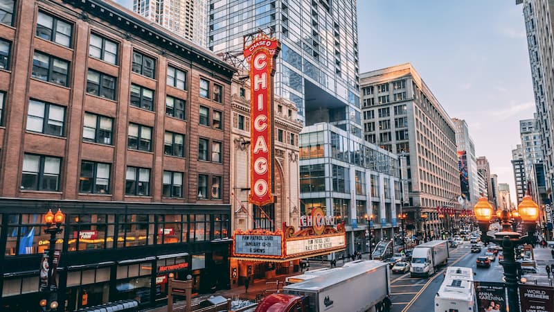 Photo of the Chicago theater